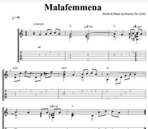 Malafemmena-spartito-canzoni-napoletane